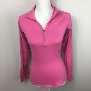 Nike Dri Fit 1/4 Zip Pink Pullover Sweater XS
